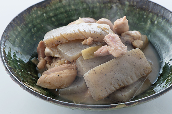 こんにゃくと鶏肉の煮ものをおいしく作る方法