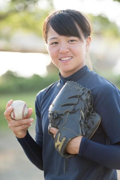 中学生の頃の島野愛友利選手(2018年撮影、写真/藤岡雅樹)