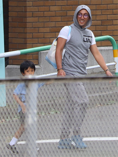 海老蔵は積極的に親子競技に参加していた