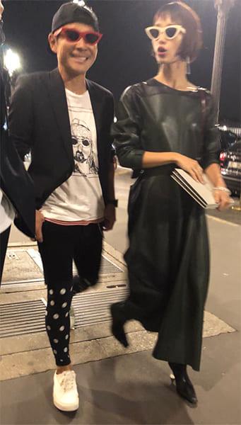 『バスキア展』に出席した2人