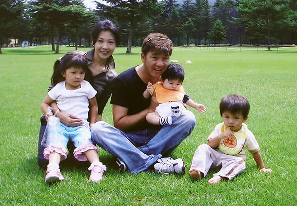 2005年、軽井沢で撮った家族写真