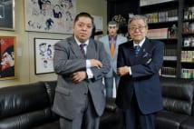 『ゴルゴ13』について語り合った佐藤優氏(左)と、さいとう・たかを氏
