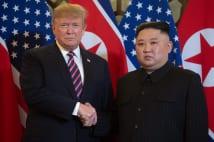 今回は初めから笑顔がなかった米朝首脳会談(AFP=時事)