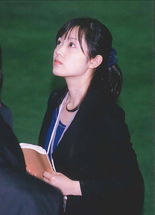 新人研修で東京ドームを取材する水卜麻美(2010年日本テレビ入社)