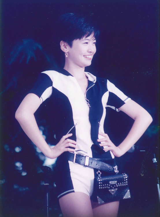 西山喜久恵、『フジテレビまつり!』のイベントにて(1992年フジテレビ入社)