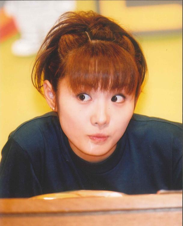高島彩、『お台場どっと混む!』の公開収録にて(2001年フジテレビ入社)