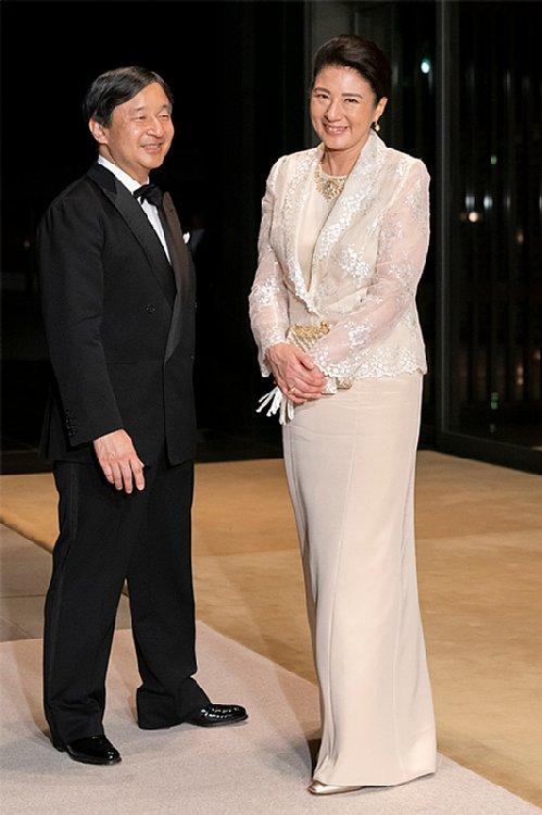 晩餐会での天皇皇后両陛下(撮影/JMPA)