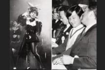 1986年、コンサートで熱唱する柏原芳恵さんと皇太子さま(当時。写真:時事通信フォト)