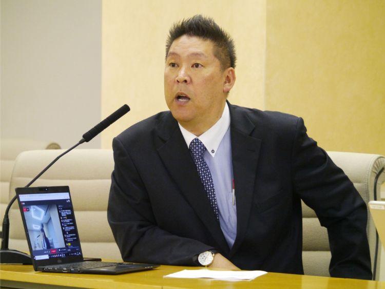 「NHKから国民を守る党」の立花孝志代表