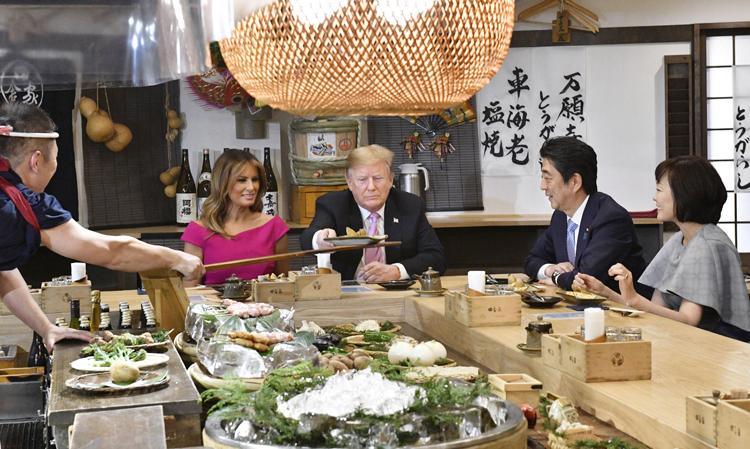 トランプ氏が食べたのは実は北海道産だった(共同通信社)