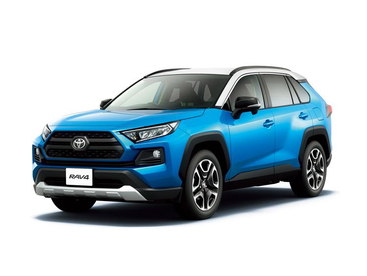 ブルー系がイメージカラーのトヨタの新型RAV4