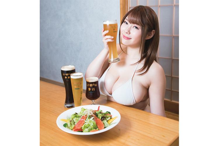 山梨発アイドル・結城ちか 富士桜高原麦酒「飲みやすい!」