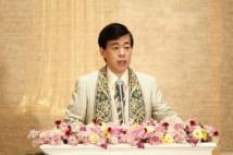 幸福の科学の大川隆法総裁(共同通信社)