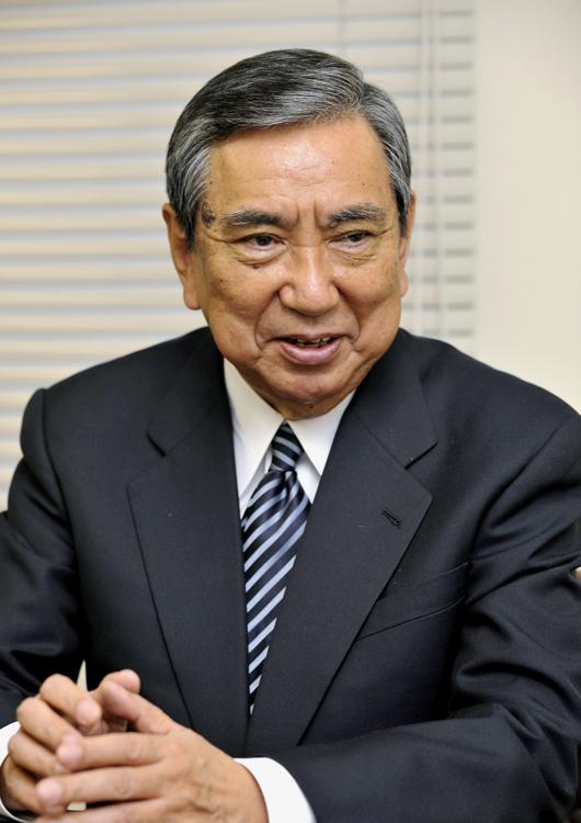河野洋平氏は野党転落時に総裁を務めた(共同通信社)