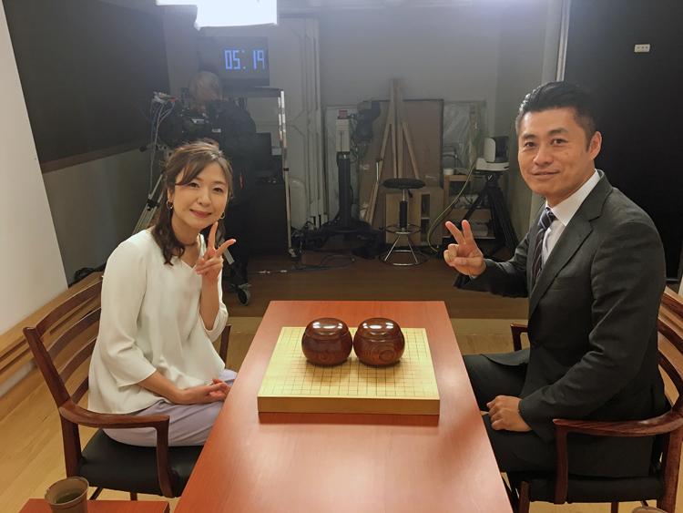 囲碁将棋チャンネルの番組で細野氏と対局した長井さん