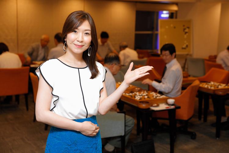 囲碁インストラクターの長井多葉紗さん(ダイヤモンド囲碁サロン)