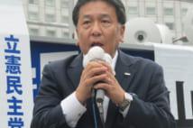 街頭演説を行う立憲民主党の枝野幸男代表(時事通信フォト)