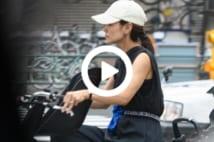 【動画】向井理を支える妻・国仲涼子 自転車での「凄ママ」シーン