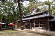敷地内には厩舎を改造した喫茶店のほか、そば処や土産物店もある