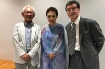 写真左から宮本英司さん、クミコ、酒井政利氏