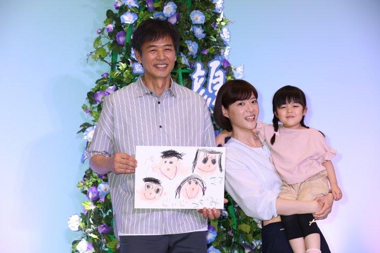 家族のような時任三郎、上野樹里、加藤袖凪