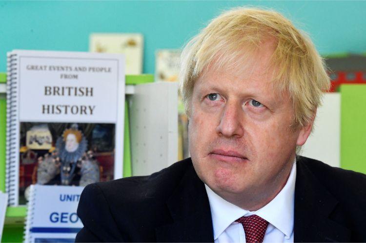 10月末の「EU離脱」を目論むジョンソン英首相(AFP=時事)