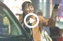 """【動画】石原さとみ 深夜の""""おっさんず飲み""""現場"""