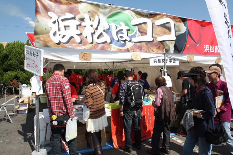 B級ご当地グルメの祭典「B-1グランプリ」にも出展した浜松餃子(時事通信フォト)