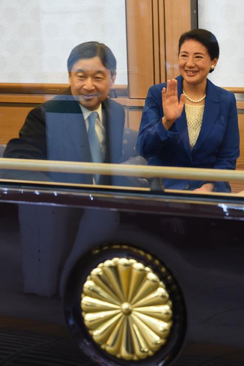 御代がわり後、両陛下がお召しに列車に乗られるのは初(撮影/JMPA)