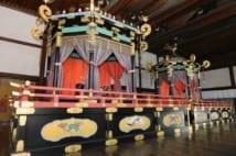 「即位礼正殿の儀」で新天皇が即位を宣言する高御座(時事通信フォト)