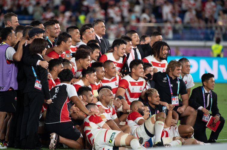 働きながら企業チームで活躍する選手が多いラグビー日本代表(撮影/藤岡雅樹)
