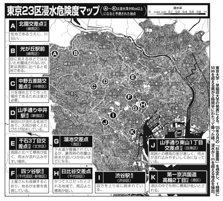 東京 23 区 浸水 危険 度 マップ