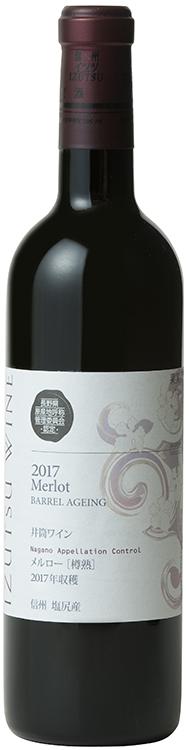 「NACメルロー[樽熟]2017」(3758円)は「長野県原産地呼称管理制度認定ワイン(N.A.C.ワイン)」。赤ワイン用のぶどう「メルロー」を樽熟成させている。