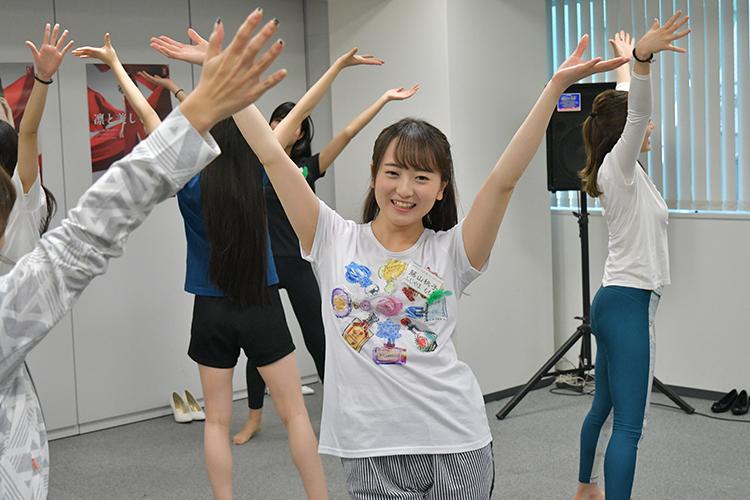 アイドルコピーダンスが趣味という慶應大学の藤山桃子さん(21)