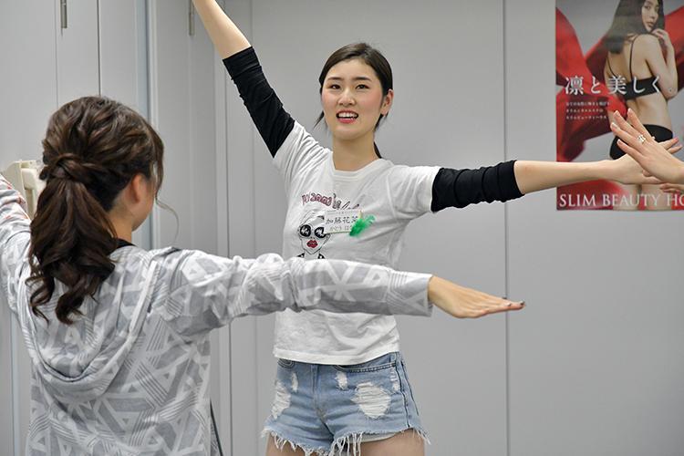 夢は「世界で活躍するモデル」と話す名古屋短期大学の加藤花菜さん(19)