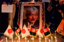 アフガニスタンの首都カブールでの追悼集会(AFP=時事)