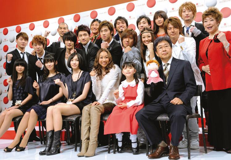 2008年の紅白初出場歌手たち(共同通信社)