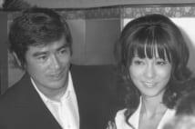 1972年、千葉真一との結婚会見(共同通信社)