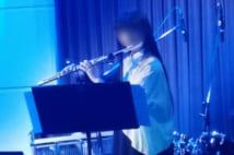 表情豊かにフルートの音を奏でた長女