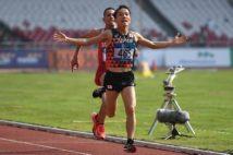 灼熱のジャカルタでアジア大会を制した際は、最後まで激闘だった(写真/AFP=時事)