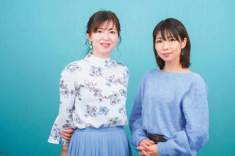三ヶ尻知子さん(左)と寺川奈津美さん