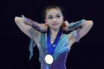 世界ジュニアフィギュアで優勝したカミラ・ワリエワ(SPUTNIK/時事通信フォト)