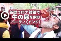 【動画】新型コロナ対策で牛の尿を飲むパーティ〈インド〉
