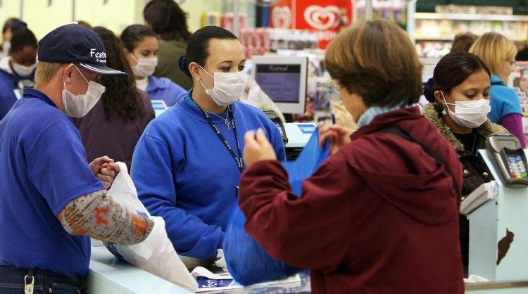 コロナと同様に世界的な感染拡大に至った2009年の新型インフルエンザ(AFP=時事通信フォト)
