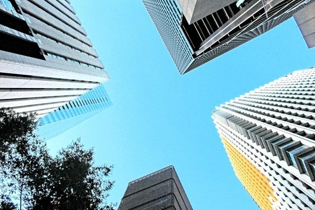 大企業のオフィスはターミナル駅そばの高層ビル街に多い