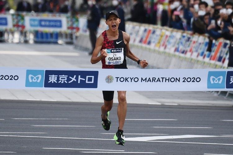 東京マラソンで日本新記録をマークした大迫傑(写真/時事通信フォト)