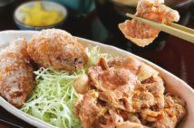 スタミナ深夜食堂 生姜焼きと鶏から、うなぎの串焼き