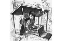 屋内で大地震…「机の下」と「座布団でガード」、正解は?