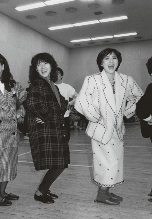 写真は1984年の撮影。紅白歌合戦の練習風景 (C)女性セブン