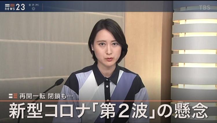 小川彩佳もチェック対象(『NEWS23』より)